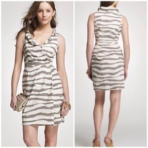 J. Crew Vintage Zebra Striped Blakey Dress Size 4